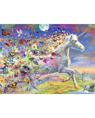 Puzzle Ravensburger - Unicorni Si Fluturi, 500 piese, contine stickere (15046)