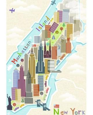 Puzzle Ravensburger - New York, 99 piese (16537)