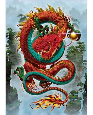 Puzzle Educa - Vincent Hie: Le Dragon De La Bonne Fortune, 500 piese (19003)