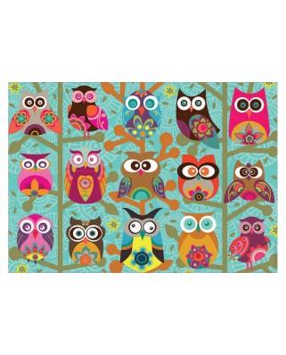 Puzzle Educa - Owls, 500 piese (19006)
