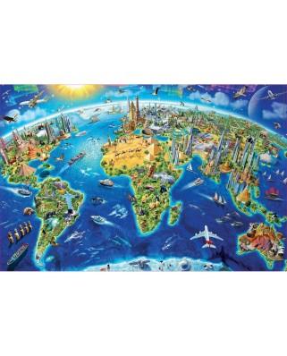 Puzzle Educa - Adrian Chesterman: World Symbols, 1.000 piese mini (19036)