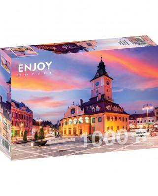 Puzzle 1000 piese - Piata Sfatului, Brasov (Enjoy-1026)