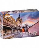 Puzzle 1000 piese - Turnul cu ceas, Sighisoara (Enjoy-1029)