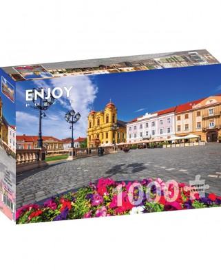 Puzzle 1000 piese - Piata Unirii, Timisoara (Enjoy-1032)