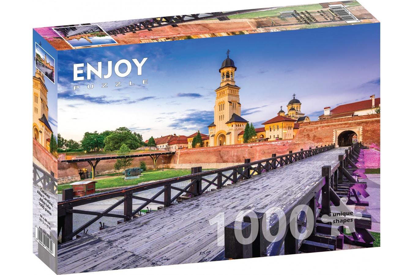 Puzzle 1000 piese - Cetatea Alba Carolina, Alba-Iulia (Enjoy-1035)