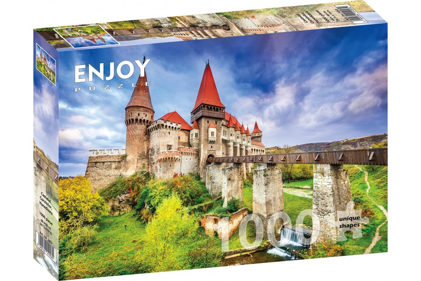 Puzzle 1000 piese - Castelul Corvinilor, Hunedoara (Enjoy-1053)