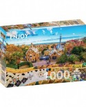 Puzzle 1000 piese - View from Park Guell, Barcelona (Enjoy-1056)