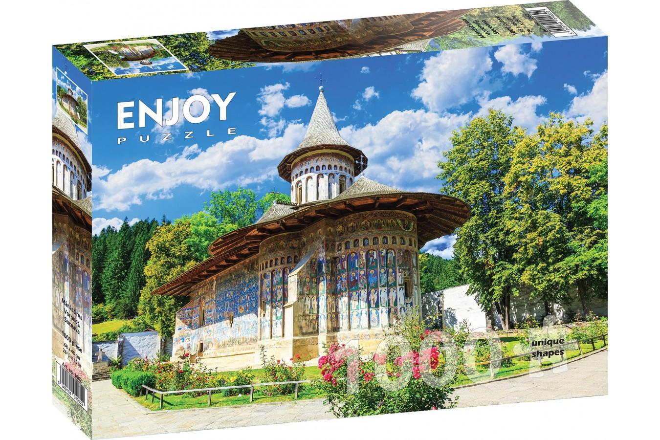 Puzzle 1000 piese - Voronet Monastery, Suceava (Enjoy-1062)