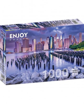 Puzzle 1000 piese - Cloudy Sky Over Manhattan, New York (Enjoy-1065)