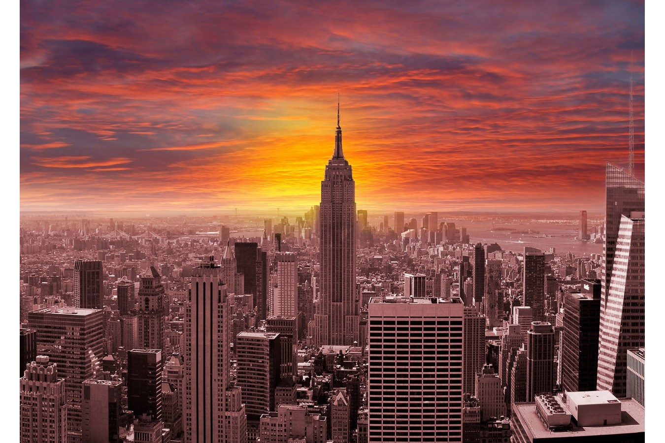 Puzzle 1000 piese - Sunset Over New York Skyline (Enjoy-1068)