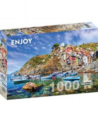 Puzzle 1000 piese - Riomaggiore, Cinque Terre, Italy (Enjoy-1071)