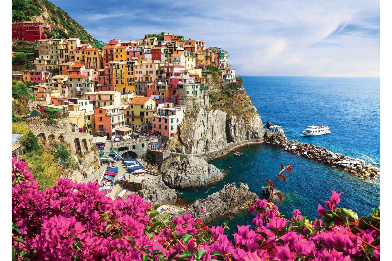 Puzzle 1000 piese - Manarola, Cinque Terre, Italy (Enjoy-1080)
