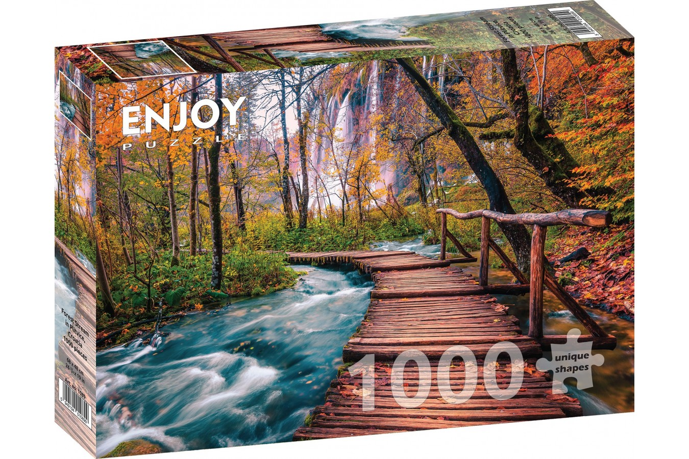 Puzzle 1000 piese - Forest Stream in Plitvice, Croatia (Enjoy-1089)