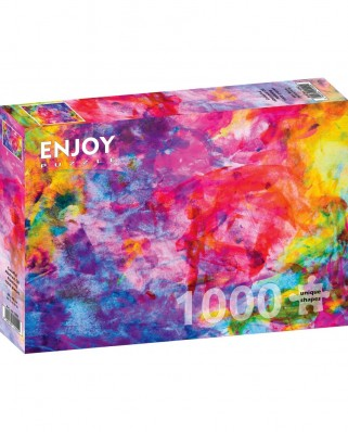 Puzzle 1000 piese - Colourful Abstract Oil Painting (Enjoy-1092)