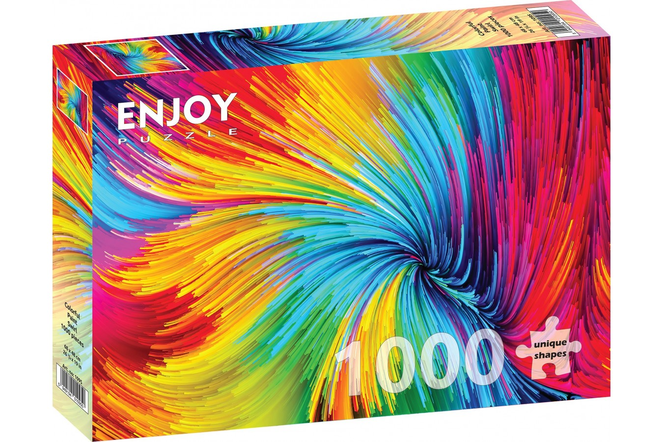 Puzzle 1000 piese - Colorful Paint Swirl (Enjoy-1095)