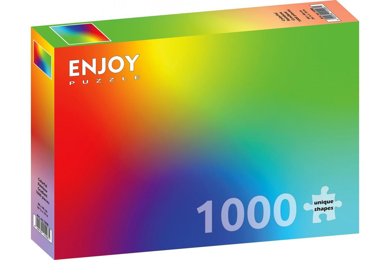 Puzzle 1000 piese - Colorful Rainbow Gradient (Enjoy-1098)