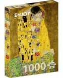 Puzzle 1000 piese - Gustav Klimt: The Kiss (Enjoy-1110)