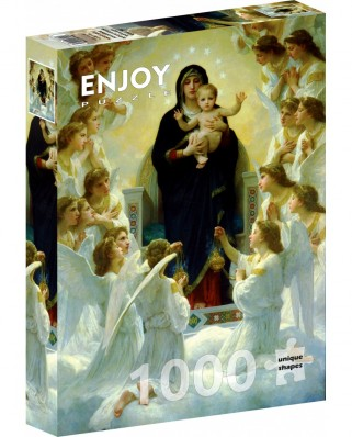 Puzzle 1000 piese - William Bouguereau: The Virgin With Angels (Enjoy-1116)