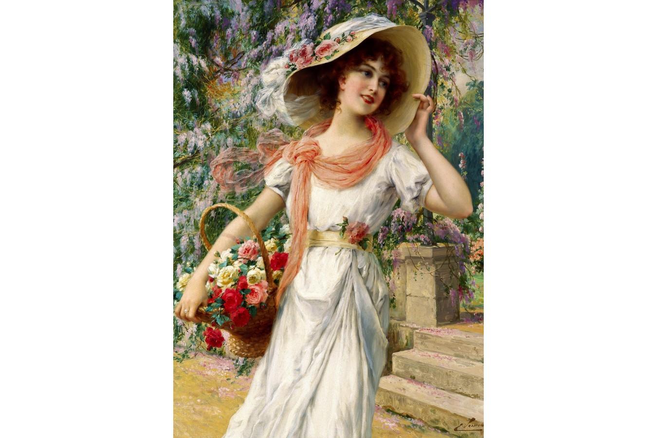 Puzzle 1000 piese - Emile Vernon: The Flower Garden (Enjoy-1122)