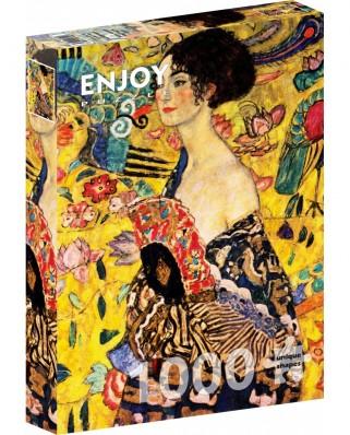 Puzzle 1000 piese - Gustav Klimt: Lady with a Fan (Enjoy-1128)