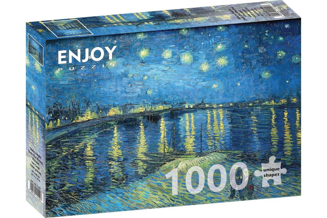 Puzzle 1000 piese - Vincent Van Gogh: Starry Night Over Rhone (Enjoy-1140)