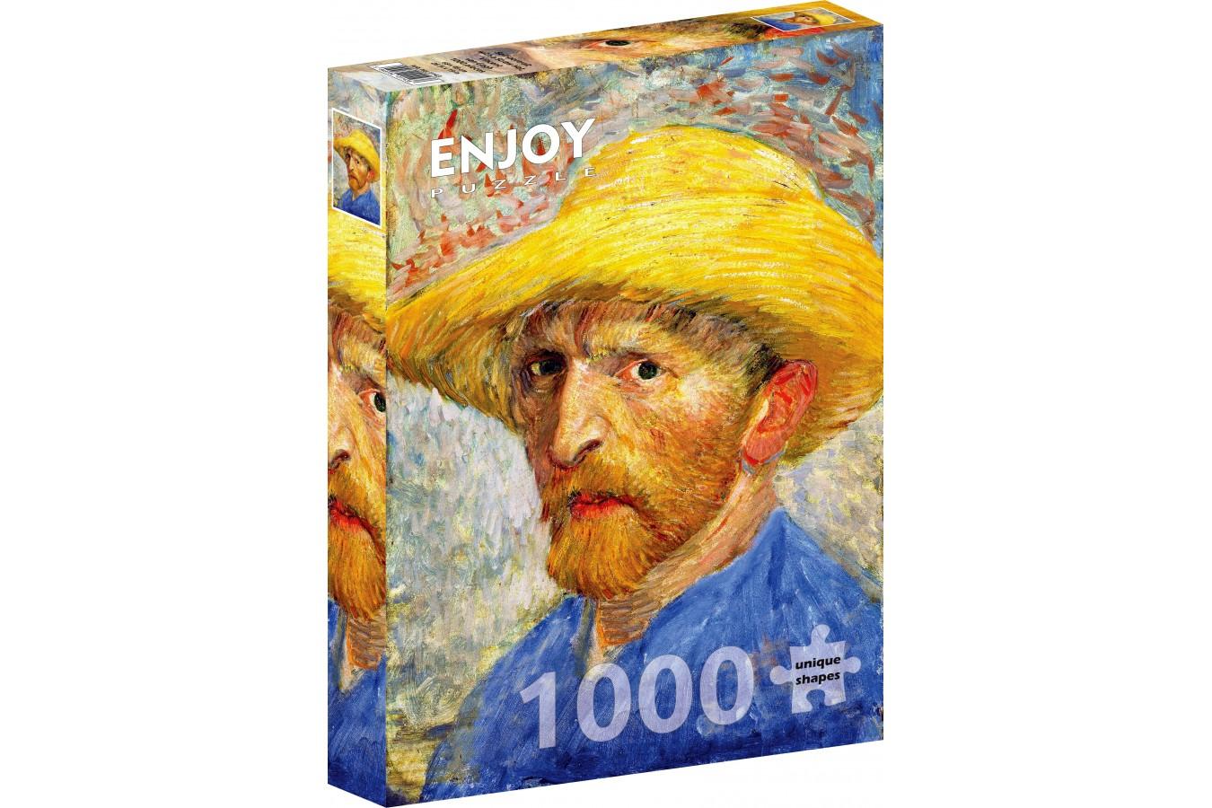 Puzzle 1000 piese - Vincent Van Gogh: Self-portrait with a Straw Hat (Enjoy-1143)