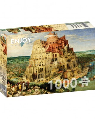 Puzzle 1000 piese - Pieter Bruegel: The Tower of Babel (Enjoy-1146)