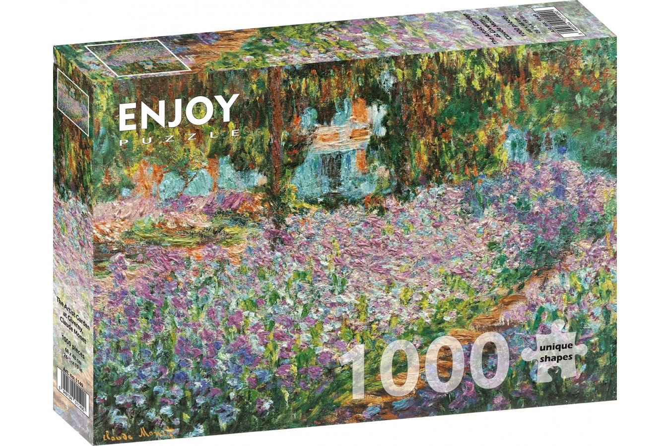 Puzzle 1000 piese - Claude Monet: The Artist Garden at Giverny (Enjoy-1149)