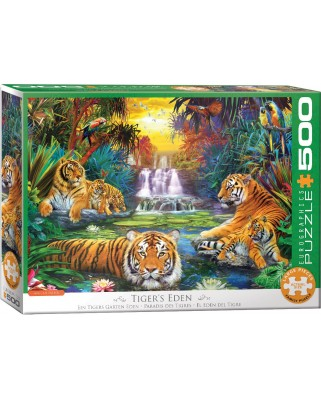 Puzzle 500 piese XXL - Jan Patrik Krasny: Tiger's Eden (Eurographics-6500-5457)