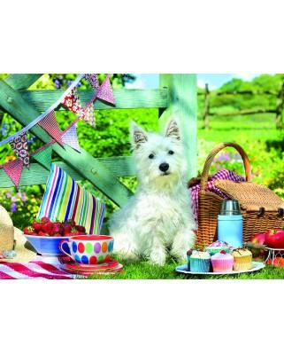 Puzzle 500 piese XXL - Scottie Dog Picnic (Eurographics-6500-5461)