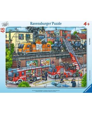 Puzzle 40 piese - Misiune De Salvare Pompieri (Ravensburger-05093)