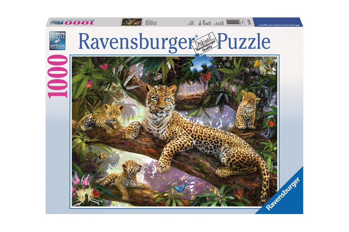 Puzzle Ravensburger - Familie De Leoparzi, 1000 piese (19148)