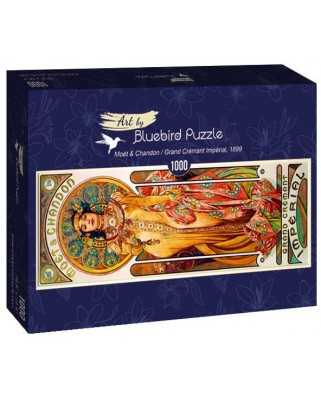 Puzzle 1000 piese - Alfons Mucha: Moet & Chandon-Grand Cremant Imperial, 1899 (Bluebird-60094)