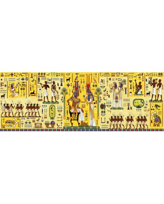 Puzzle 1000 piese panoramic - Egyptian Hieroglyph (Art-by-Bluebird-60099)
