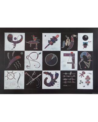 Puzzle 1000 piese - Vassily Kandinsky: Quinze, 1959 (Bluebird-60109)