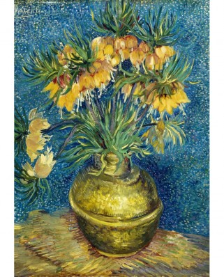 Puzzle 1000 piese - Vincent Van Gogh: Imperial Fritillaries in a Copper Vase, 1887 (Bluebird-60114)