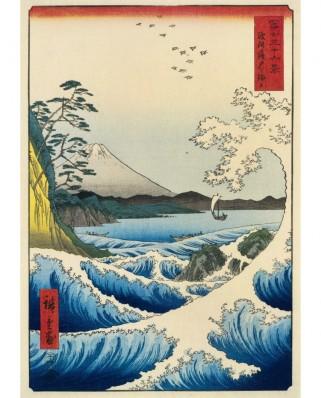 Puzzle 1000 piese - Hiroshige Utagawa: The Sea at Satta, Suruga Province, 1859 (Bluebird-60118)