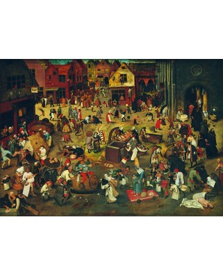 Puzzle 1000 piese - Pieter Bruegel: The Fight Between Carnival and Lent, 1559 (Bluebird-60125)