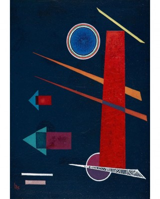 Puzzle 1000 piese - Vassily Kandinsky: Powerful Red, 1928 (Bluebird-60127)