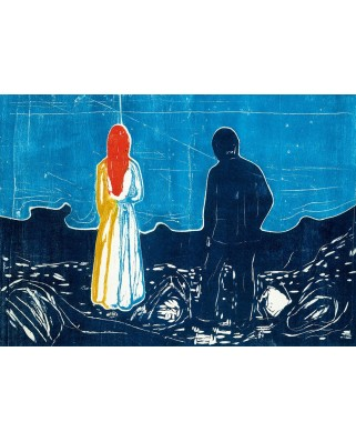 Puzzle 1000 piese - Edvard Munch: Two People: The Lonely Ones, 1899 (Bluebird-60129)