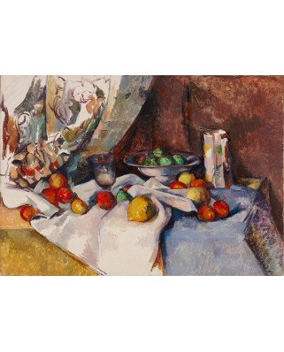 Puzzle 1000 piese - Paul Cezanne: Still Life with Apples, 1895-1898 (Bluebird-60132)