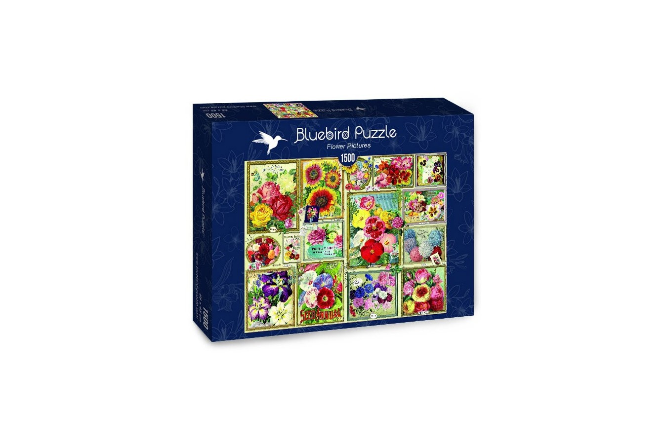 Puzzle 1500 piese - Flower Pictures (Bluebird-70474)