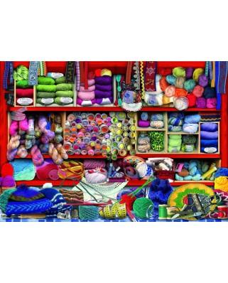 Puzzle 1000 piese - Wool Shelf (Bluebird-70478)