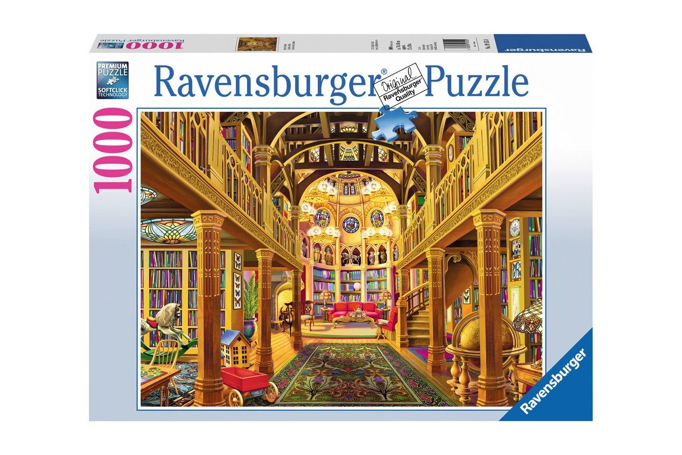 Puzzle Ravensburger - Lumea Cuvintelor, 1000 piese (19155)