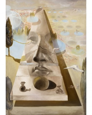 Puzzle 1000 piese - Salvador Dali: Apparition of the Visage of Aphrodite of Cnidos in a Landscape (Art-by-Bluebird-60103)
