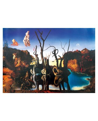 Puzzle 1000 piese - Salvador Dali: Swans Reflecting Elephants, 1937 (Art-by-Bluebird-60105)