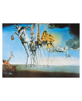 Puzzle 1000 piese - Salvador Dali: The Temptation of St. Anthony, 1946 (Art-by-Bluebird-60107)