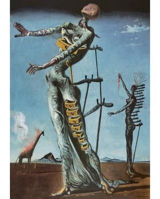 Puzzle 1000 piese - Salvador Dali: Burning Giraffe, c. 1937 (Art-by-Bluebird-60112)