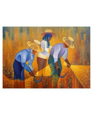 Puzzle 1000 piese - Toffoli Louis: La Recolte, 1977 (Art-by-Bluebird-60137)