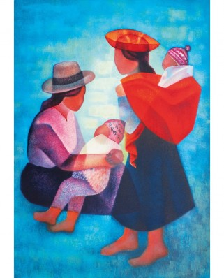 Puzzle 1000 piese - Toffoli Louis: Famille Peruvienne, 1986 (Art-by-Bluebird-60139)
